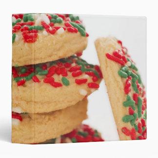 Studio Shot of christmas cookies with sprinkles 3 Ring Binder