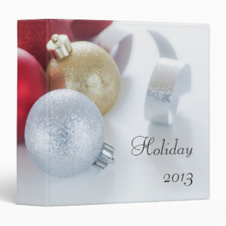 Studio shot of Christmas ornaments 3 Ring Binders