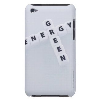 Studio shot of dice spelling out green energy iPod touch Case-Mate case