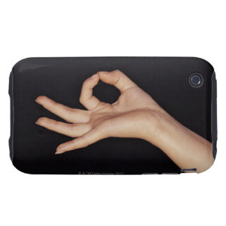 Studio shot of hand gesturing a sign iPhone 3 tough case