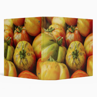 Studio shot of heirloom tomatoes vinyl binders