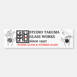 studio takuma glass works STICKER Bumper Sticker