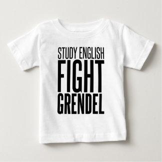 Study English, Fight Grendel Baby T-Shirt