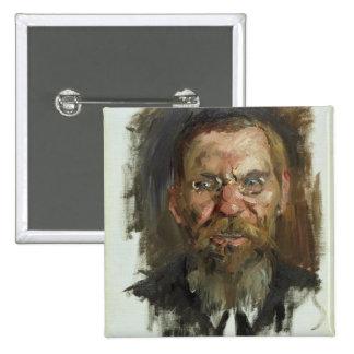 Study for a Portrait of Professor Dr. Eduard 2 Inch Square Button
