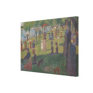 Study for A Sunday on La Grande Jatte Canvas Print