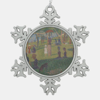 Study for A Sunday on La Grande Jatte Snowflake Pewter Christmas Ornament