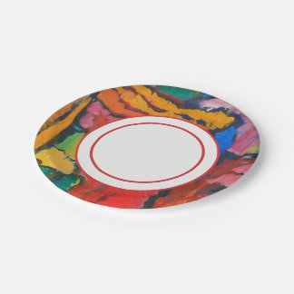 Study for Improvisation V by Wassily Kandinsky Paper Plate