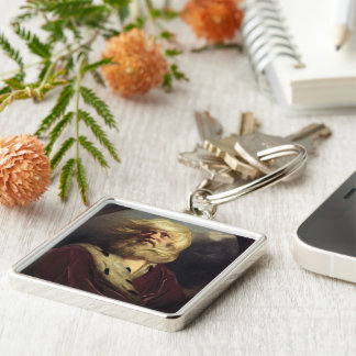 Study for King Lear - Joshua Reynolds Silver-Colored Square Keychain