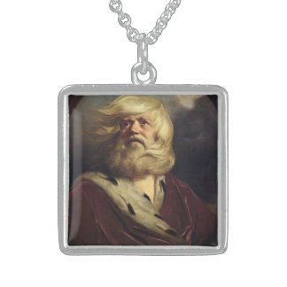 Study for King Lear - Joshua Reynolds Square Pendant Necklace