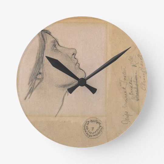 Study for 'Lamia', c.1904-05 (pencil on paper) Round Clock
