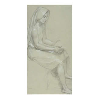Study for Seated Female Figure by Bouguereau Photo Cards