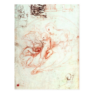 Study for the Alba Madonna, c.1508-09 Postcard