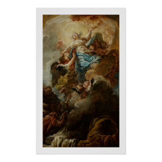 Study for the Assumption of the Virgin, c.1760 2 Poster
