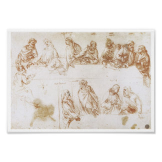 "Study for the ""Last Supper"", Leonardo da Vinci Poster"