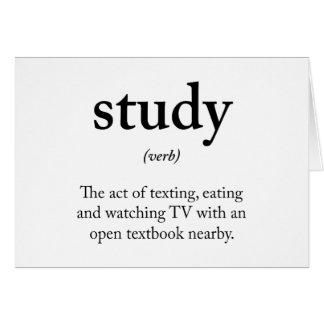 Study funny definition card