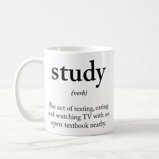 Study funny definition coffee mug
