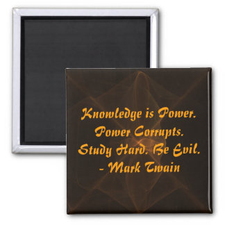 Study Hard and Be Evil Square Magnet