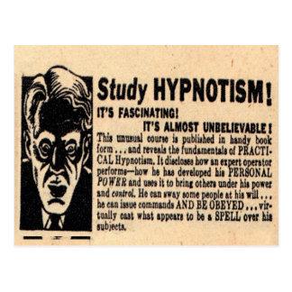 """Study Hypnotism"" Postcard"