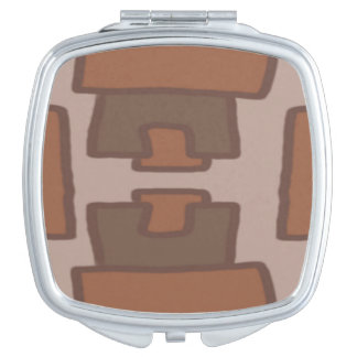 Study in Brown Compact Mirrors