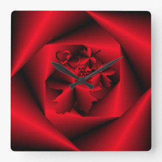 Study in Red ~ Decorative Clock