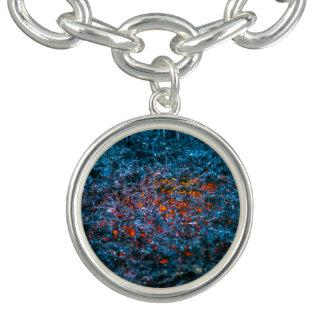 Study In Watercolor - Orange Charm Bracelet
