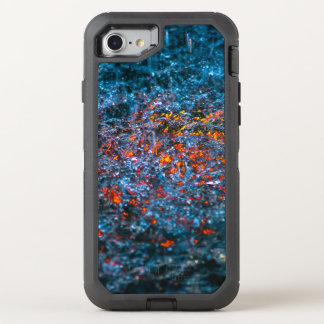 Study In Watercolor - Orange OtterBox Defender iPhone 8/7 Case