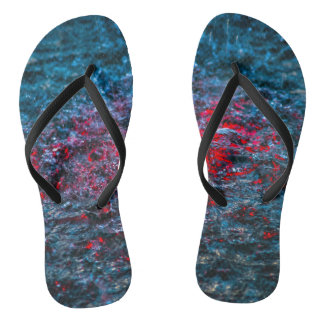 Study In Watercolor - Red Flip Flops