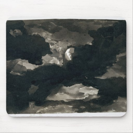 Study of a Clouded Moonlit Sky (black wash on laid Mousepads