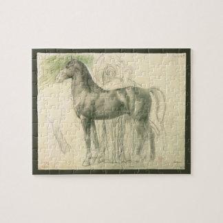 Study of a Horse by Edgar Degas, Vintage Fine Art Jigsaw Puzzle