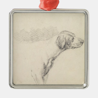 Study of a Hound, 1794 (pencil on paper) Metal Ornament