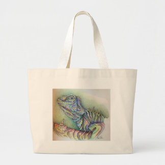 Study of An Iguana Large Tote Bag