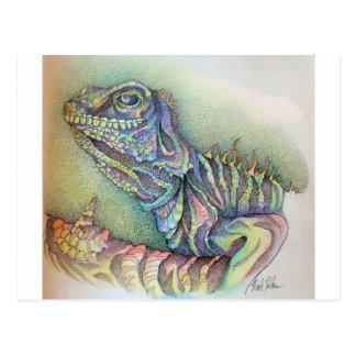 Study of An Iguana Postcard