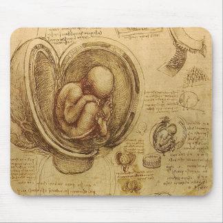 Study of baby fetus by Leonardo da Vinci Mouse Pad