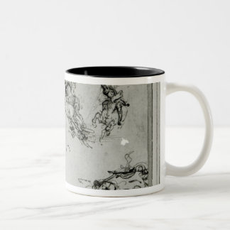 Study of Horsemen in Combat, 1503-4 Two-Tone Coffee Mug
