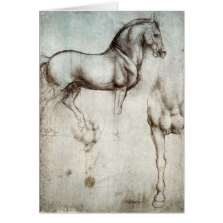 Study of horses - Leonardo da Vinci Card