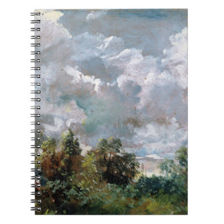 Study of Sky and Trees (oil on canvas) Spiral Notebook