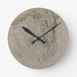 Study of the Head of a Ram (black, sanguine & whit Clock