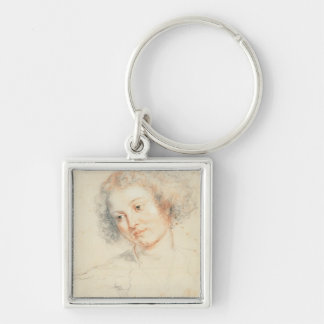 Study of the Head of St. Apollonia (drawing) Key Chain