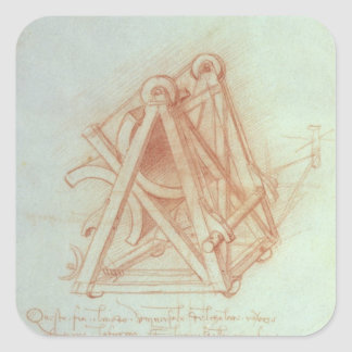 Study of the Wooden Framework with Casting Square Sticker