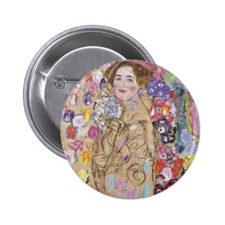 Study of Woman in Flowers 2 Inch Round Button