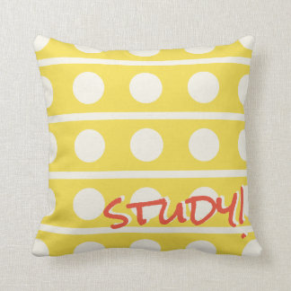 Study or Sleep Polka Dots in White on Any Color Throw Pillow