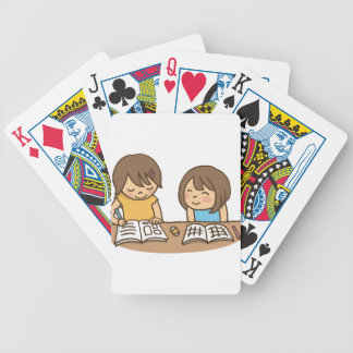 Studying Students Bicycle Playing Cards