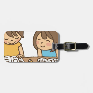 Studying Students Luggage Tag
