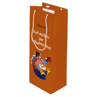 Stuff and Baste a Turkey (Wine) Wine Gift Bag