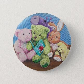 Stuff Animal Circle Time Art Print 2 Inch Round Button