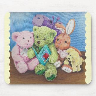 Stuff Animal Circle Time Art Print Mouse Pad