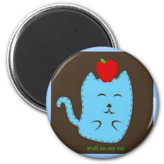 stuff on my cat - apple on head magnet