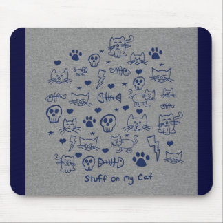 stuff on my cat - doodle mouse pads