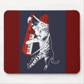 stuff on my cat - keytar mouse pad