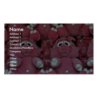 Stuffed animals at amusement park pack of standard business cards
